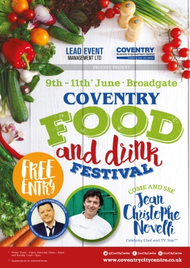 Coventry Food and Drink Festival 2017.Final Poster.